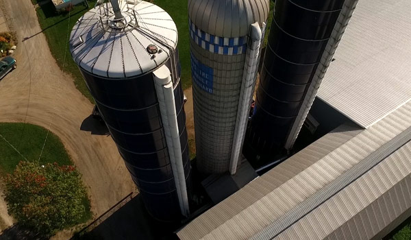 Transformed vitrified steel silo
